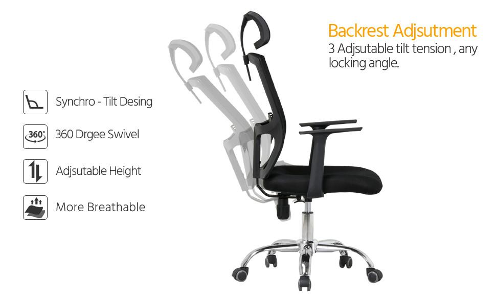 Amazon Com Topeakmart Desk Chair High Back Mesh Office