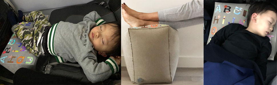 Inflatable-Travel-Pillow-Bed-Leg-Rest-for-Kids-to-Lie-Down-Sleep-on-Long-Flights