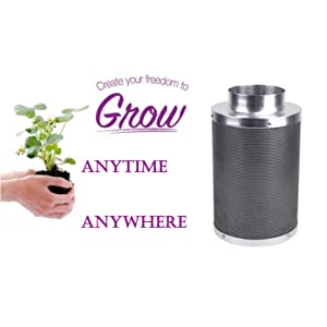 Exceptional Odor Control  sc 1 st  Amazon.com & Amazon.com: Growtent Garden Carbon Filter for Indoor Grow Tent ...