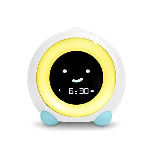 Arctic Blue MELLA Sleep Trainer on Play Mode with Yellow Light