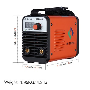 ARC AT 110/220 volt inverter welder Size: 6.7x4.4x9.1