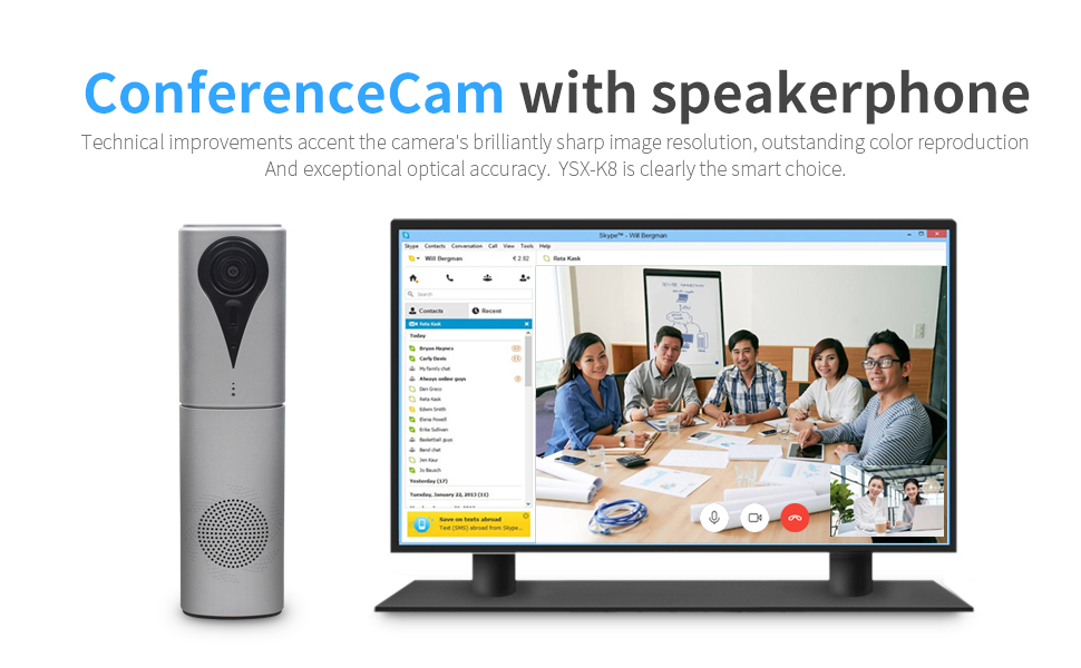 Video conference camera and microphone