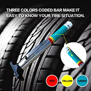 2699020448 10 Pack GODESON 88702 Smart Color Coded Tire Tread Depth Gauge