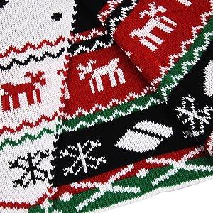 Pink Queen Women's Christmas Knit Open Front Long Sleeve Cardigan