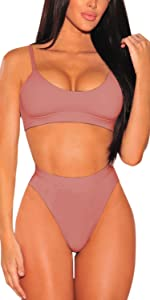 5a96bfcc2c6 High Cut High Waisted Cheeky Two Piece Swimsuit · Removable Strap High Cut  Cheeky High Waisted Bikini Set · Back Zip Mesh Spicy High-Waist Racer  Swimwear ...