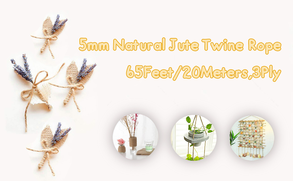 5mm natural jute twine