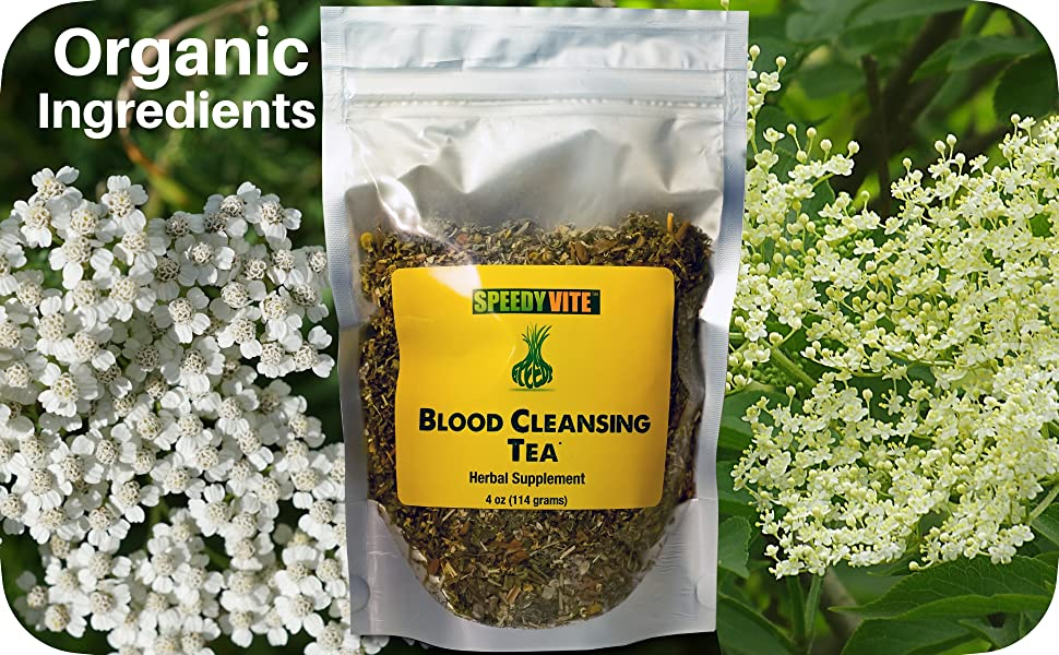 Blood Cleanse Cleansing Detox Tea Herbal Organic SpeedyVite Natural Loose leaf