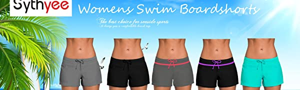 3ec0addda4  Sythyee Women's Board Shorts are made with soft, stretchy fabric for total  comfort and mobility in the water or on the beach.