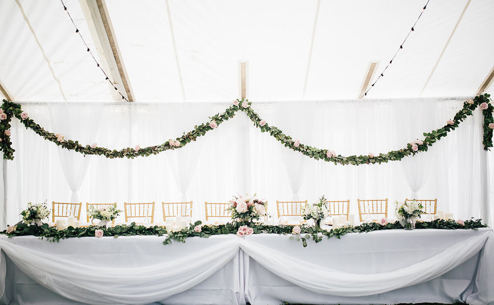 eucalyptus garlands wedding decorations