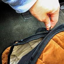 removable detachable hammock. zip or unzip when not needed