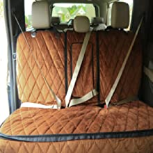 access to all seat belts. center seat belt has full access.