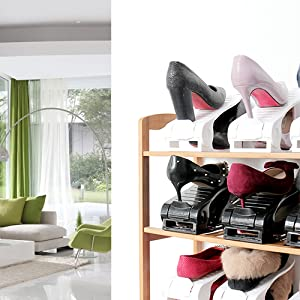 Try the best storage solution that give you double storage capacity to maximize your wardrobe space. Stack your sneakers slippers flats tennis shoes ... & Amazon.com: Shoe Slots Space Saver?Darius Ajustbale Closet ...