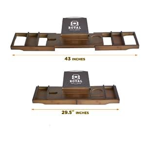 bathroom accessories bath caddy tray for tub bamboo bathtub tray