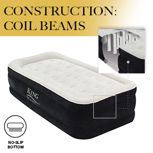 king koil coil beam technology no slip bottom air mattress upgraded new airbed design twin size
