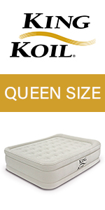 king koil queen size air mattress raised luxury airbed built in pump air bed blow up bed queen bed