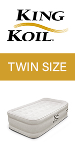 king koil twin size air mattress raised luxury airbed built in pump air bed blow up bed twin bed