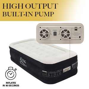 king koil twin airbed built in high speed pump fast air mattress inflatable bed quick inflate bed