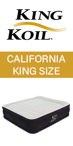 king koil king size air mattress raised luxury airbed built in pump air bed blow up california king