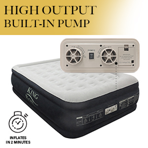 king koil built in pump air mattress queen size high speed pump blow up bed