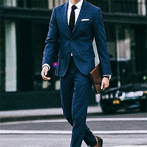 Classic suit shoes with round toe and stitching details for added appeal.