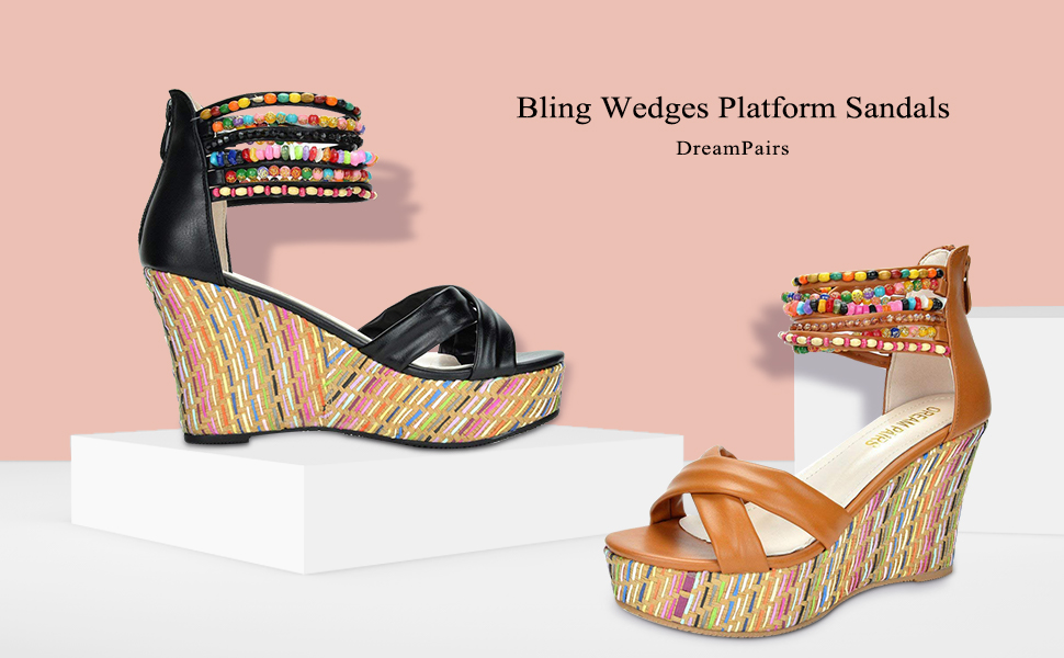 5277bad0b3b3 dream pairs women shoes. wedge sandals for women. Read more. wedges