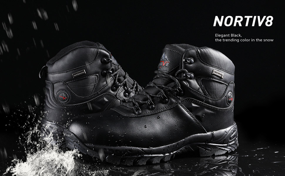 9ab5be3e077 NORTIV 8 Men s Insulated Waterproof Hiking Winter Snow Boots