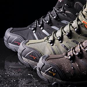 NORTIV 8 Mens Waterproof Hiking Boots Outdoor Mid Trekking Mountaineering Shoes