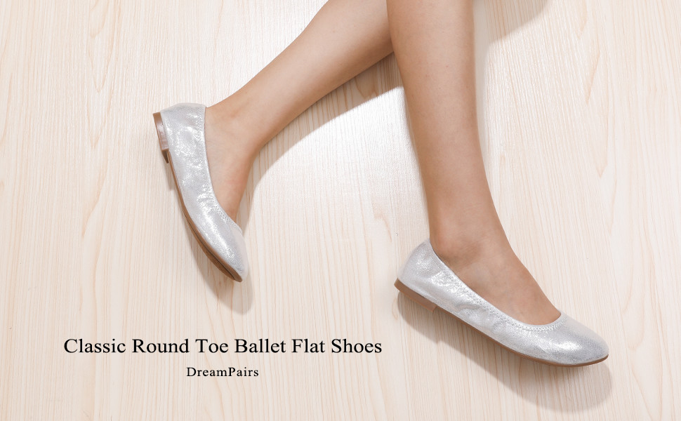 Dream Pairs Classic Round Toe Ballet Flat Shoes