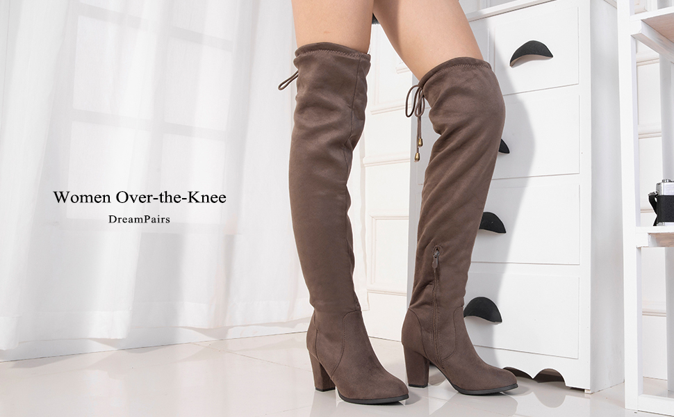 a2de8fcfd7b Dream Pairs Women Over the Knee Boots