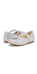 dream pairs toddler girls dress shoes ballet flats flower girls shoes red glitter shoes girls
