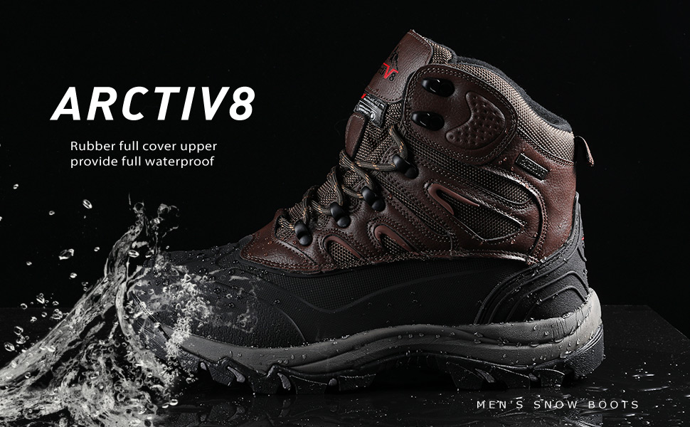arctiv8 Men's Waterproof Winter Hiking Snow Boots