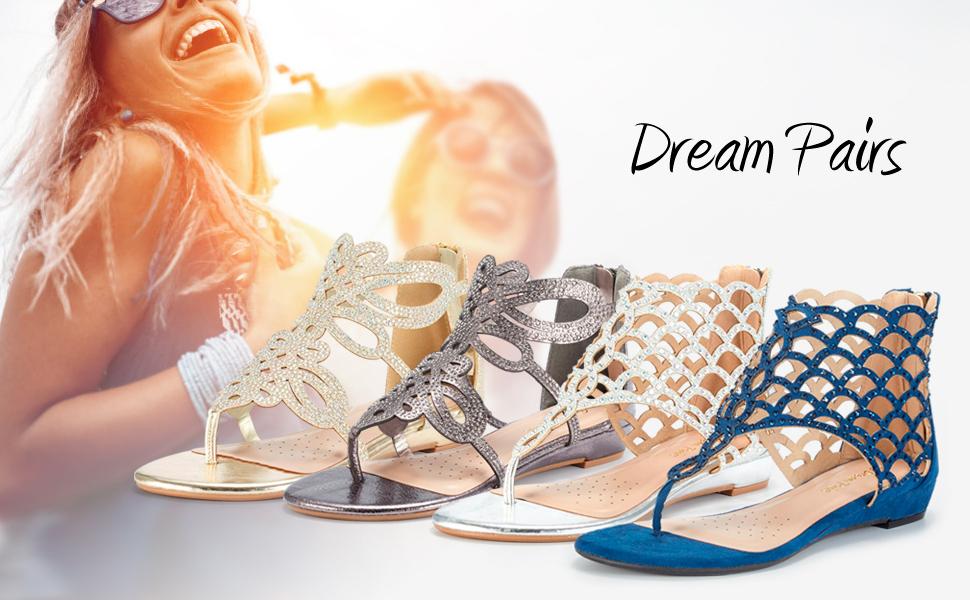 aff8dea1b42600 DREAM PAIRS WOMEN FLAT SANDAL