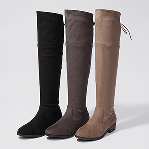 6195bf37cf0c Dream pairs thigh high over the knee flat low heel boots for women