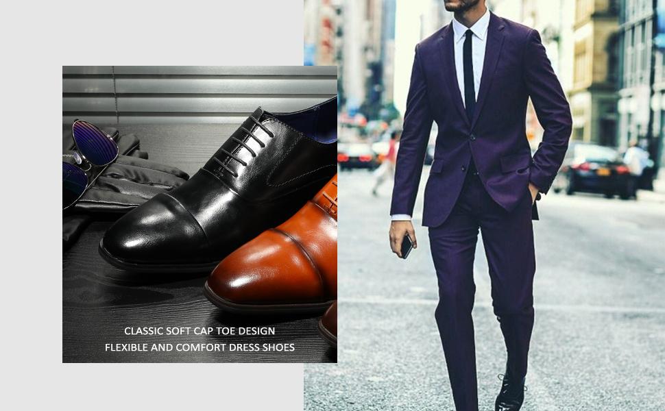 classic and soft cap toe design, flexible and comfortable design