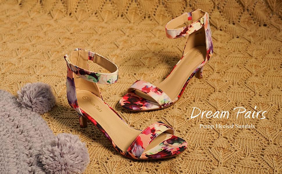Women's Open Toe Mid Heel Sandals Bridal Party Shoes