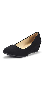 Women's classic fashion wedge pumps dress shoes for party office business club wedding daily