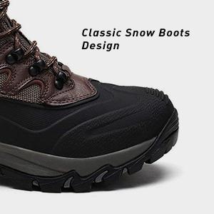 NORTIV 8 Men's Waterproof Winter Hiking Snow Boots