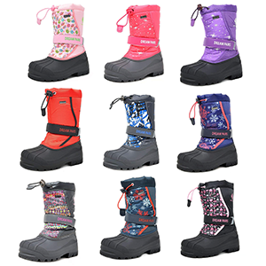 Different colors toddler snow boots