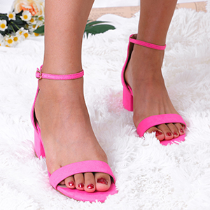 dream pairs Low Heel Pump Sandals with Ankle Strap