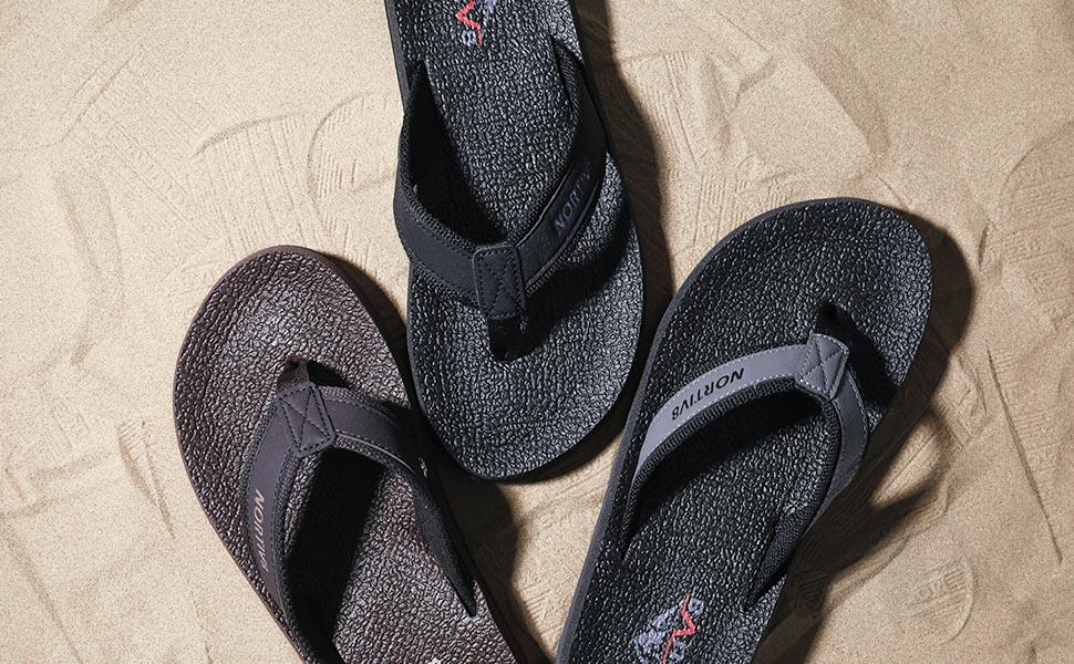 32aa0598b NORTIV 8 Men s Flip FlopsThong Sandals Comfortable Light Weight Beach Sandal