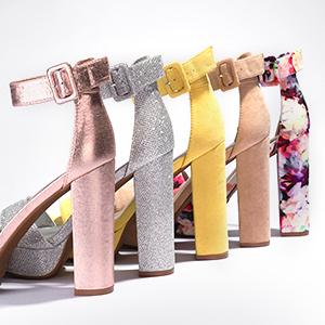 Women ankle strap high heel pumps sandal shoes
