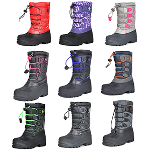 Different colors for your kids snow boots for boys