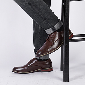 Flexible and Comfort Dress Oxfords
