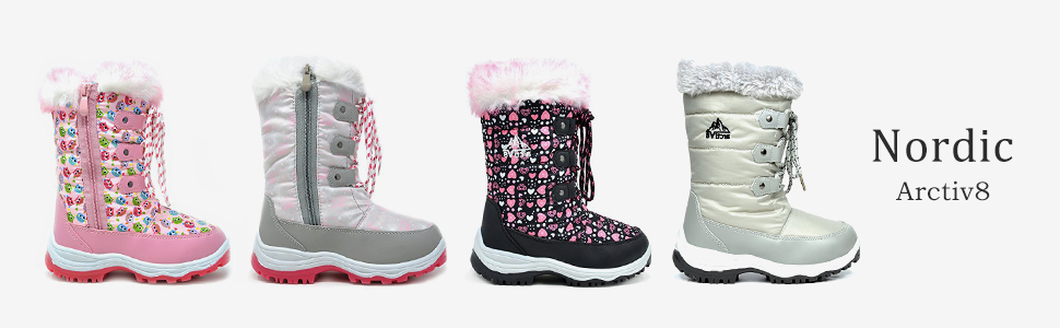 UBELLA Boys Girls Outdoor Waterproof Side Zipper Lace-Up Ankle Boots Toddler//Little Kid