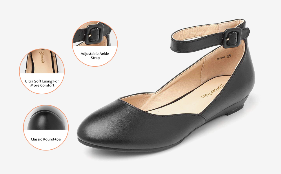 black low wedge flats shoes
