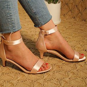Women's Ankle Strap low Heel sandals