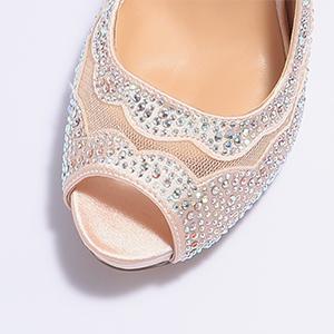 peep toe pump shoes