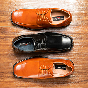Bruno Marc Men's Leather Lined Square Toe Dress Oxfords Shoes