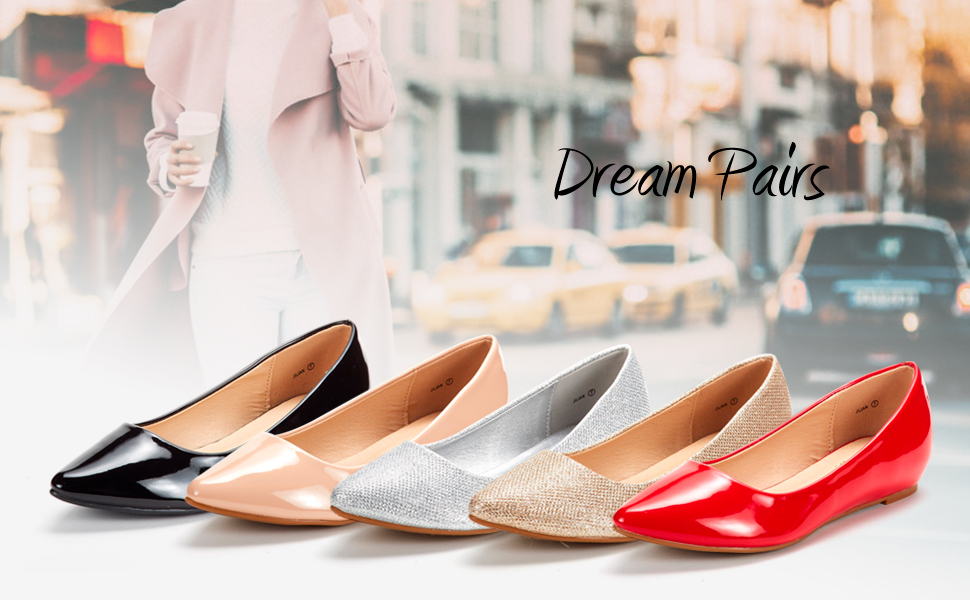 b903e3f7d3 Amazon.com | DREAM PAIRS Women's Jilian Low Wedge Flats Shoes | Flats