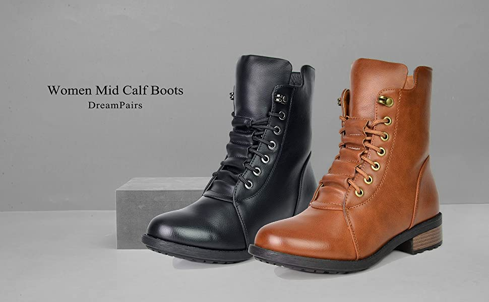 dream pairs mid calf boots